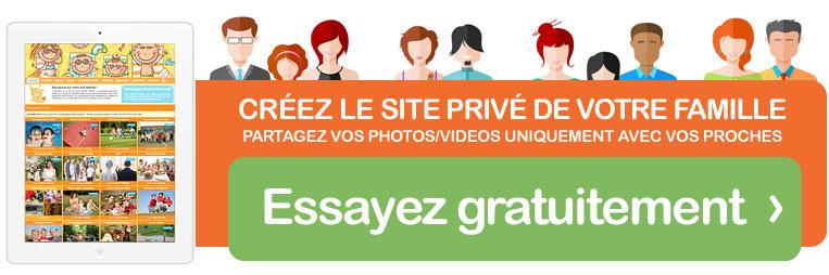 Créez le site privé de votre famille en quelques clics, c'est facile et rapide