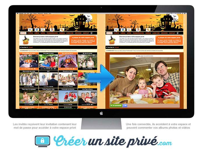 Créez votre site privé familial et partagez en toute sécurité vos photos et vidéos de famille avec vos proches