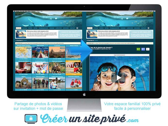 Vacances : Exemple d'un espace photos et vidéos privé